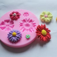 Multi Chrysanthemum silicone mold for fondant or chocolate L003