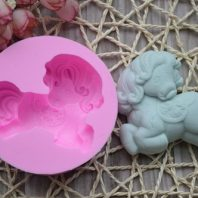 Little Horse Silicone Mold For hand made soap L009