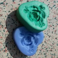 Roses with leaves silicone mold for fondant or chocolate etc L101