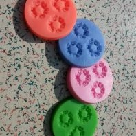 Small flowers silicone mold for fondant or chocolate etc L108