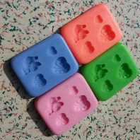 Heart and birds silicone mold for fondant or chocolate etc L115