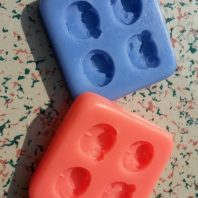 Multi owls silicone mold for fondant or chocolate etc L117