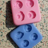 Multi animals silicone mold for fondant or chocolate etc L118