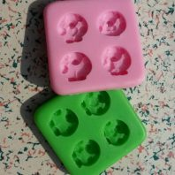 Multi animals silicone mold for fondant or chocolate etc L120