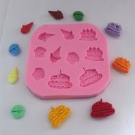 Ice cream shape silicone mold for fondant or chocolate etc L125