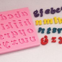 Letters silicone mold for fondant or chocolate etc L126