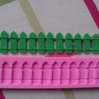 Fence shape silicone mold for baking and cake decorating L128
