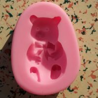 Bear silicone mold for fondant or chocolate etc L130