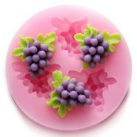 Grape with leaves silicone mold for fondant or chocolate etc L131