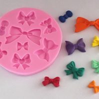 Multi bow tie silicone mold for fondant or chocolate etc L134