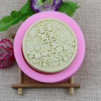 Chinese happiness characters silicone mold for hand made soap and crafts L138