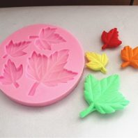 4 Leaves silicone mold for fondant or chocolate or cake decoration L014