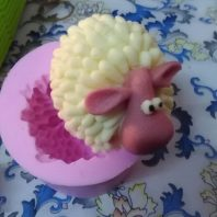 Sheep silicone mold for fondant or chocolate etc L143