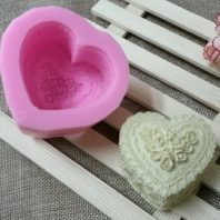 Heart shape flowers silicone mold for hand made soap and crafts L152