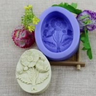 Flowers silicone mold for hand made soap and crafts L155