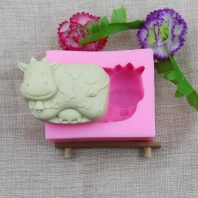 Sleeping cow silicone mold for fondant or chocolate etc L156