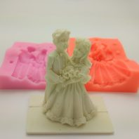 Wedding couple silicone mold for fondant or chocolate etc L162