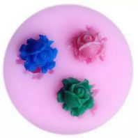 Multi Roses silicone mold for fondant or chocolate etc L164