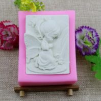 A little angel silicone mold for hand made soap and crafts L168