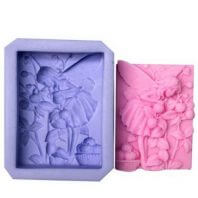 Angel and fruit silicone mold for hand made soap and crafts L170
