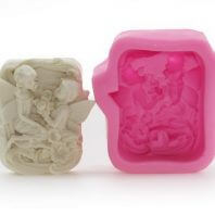 2 falling love angel silicone mold for hand made soap and crafts L171