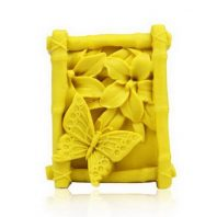 Butterfly and flowers silicone mold for hand made soap and crafts L172