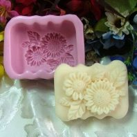 Flower soap mould silicone mold for hand made soap and crafts L173