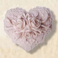 Heart shape roses silicone mold for hand made soap and crafts L183