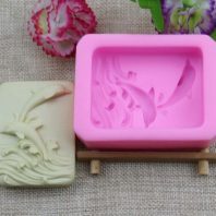 Dolphin silicone mold for hand made soap and crafts L192