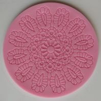 Round flower lace silicone mold for fondant cake decoration DIY cake L209