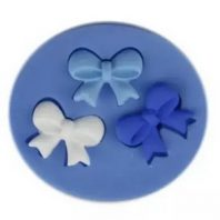 3 Bow Ties silicone mold for fondant or chocolate or cake decoration L021