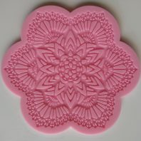 Star flower lace silicone mold for fondant cake decoration DIY cake L210