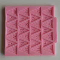 Triangle letters lace silicone mold for fondant cake decoration DIY cake chocolate L211