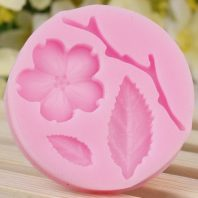 Flowers leaves silicone mold for fondant DIY cake decoration L219