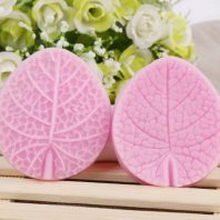 Leaves printed silicone mold for fondant DIY cake decoration L225