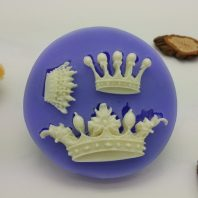 3 crown mould set silicone mold for fondant DIY cake decoration L234