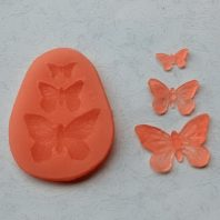 3 Multi Butterflies silicone mold for fondant or chocolate or cake decoration L024
