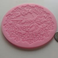 Round flowers printed lace silicone mold for fondant DIY cake decoration L240
