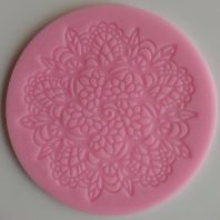 Round flowers leaves lace silicone mold for fondant DIY cake decoration L241