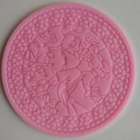 Round flowers leaves lace silicone mold for fondant DIY cake decoration L242