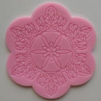 Round symmetrical stripes lace silicone mold for fondant DIY cake decoration L243