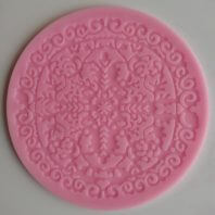 Round symmetrical stripes lace silicone mold for fondant DIY cake decoration L244