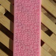 Rectangular symmetrical stripes lace silicone mold for fondant DIY cake decoration L248