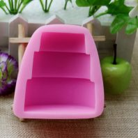 3 layers cake shape silicone mold for hand made soap and crafts L261