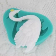 Animal swan silicone mold for fondant or chocolate or cake decoration L031