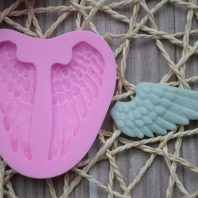 2 Angel Wings silicone mold for fondant or chocolate or cake decoration L032