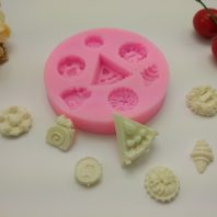 Pizza icecream small items silicone mold for fondant DIY cake decoration L356