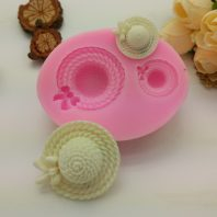 2 ladies hats silicone mold for fondant DIY cake decoration L359