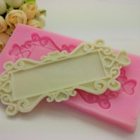 With lace rectangle silicone mold for fondant DIY cake decoration L374