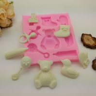 Baby items set silicone mold for fondant DIY cake decoration L380